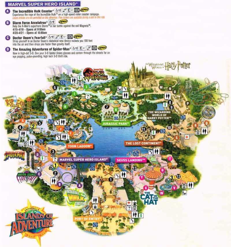 Island of Adventure Mapa